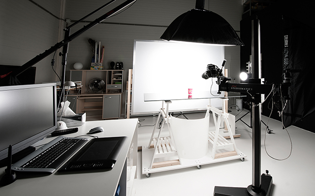 Product fotografie opstelling